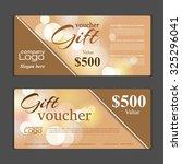 gift voucher template. can be... | Shutterstock .eps vector #325296041