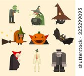 collection of scary halloween... | Shutterstock .eps vector #325299095