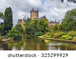wells cathedral  cathedral... | Shutterstock . vector #325299929