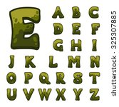 green wooden game alphabet