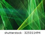 abstract colourful green laser... | Shutterstock . vector #325311494