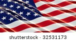 glossy usa flag with shallow... | Shutterstock . vector #32531173