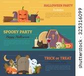 set of halloween banner  flyer...   Shutterstock .eps vector #325316099