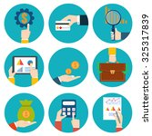 financial examiner icon.... | Shutterstock . vector #325317839