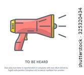 megaphone line art vector... | Shutterstock .eps vector #325320434