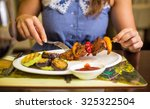 grilled meat   Shutterstock . vector #325322504