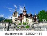 great pelesh castle in sinaia ... | Shutterstock . vector #325324454