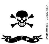 skull and crossbones. black...   Shutterstock .eps vector #325324814