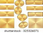 golden plates | Shutterstock .eps vector #325326071