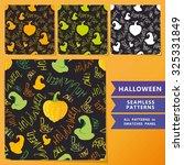 halloween set. seamless... | Shutterstock .eps vector #325331849