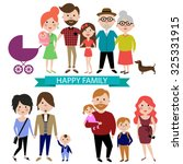 people and big happy family... | Shutterstock .eps vector #325331915