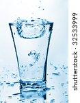 water splashing into glass   Shutterstock . vector #32533999