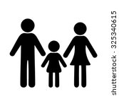 black vector simple family icon ... | Shutterstock .eps vector #325340615