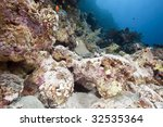 ocean  sun and fish | Shutterstock . vector #32535364