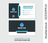vector business card template | Shutterstock .eps vector #325359914