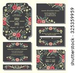 vector set of invitation cards... | Shutterstock .eps vector #325359959