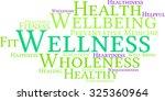 wellness word cloud on a white... | Shutterstock .eps vector #325360964