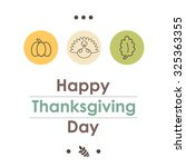 Thanksgiving Day Vector Icons...