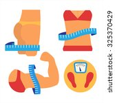 weight loss and muscles growth. ... | Shutterstock .eps vector #325370429