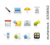 office   business icon set for...