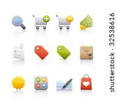 shopping icon set for multiple...