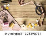 Sewing Tools And Sewing Kit On...
