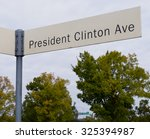 President Clinton Ave in front of the President Clinton Library in Little Rock,Arkansas.