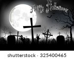 halloween background night with ... | Shutterstock .eps vector #325400465