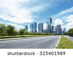 asphalt road of a modern city... | Shutterstock . vector #325401989