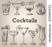 cocktails vintage collection... | Shutterstock .eps vector #325404521