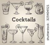 cocktails vintage collection... | Shutterstock .eps vector #325404521