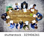 medical team discussion... | Shutterstock . vector #325406261