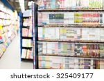 abstract book store blurred... | Shutterstock . vector #325409177