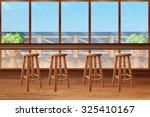 inside of restaurant with... | Shutterstock .eps vector #325410167