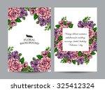 romantic invitation. wedding ... | Shutterstock .eps vector #325412324