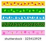colorful christmas frame  ... | Shutterstock . vector #325413929