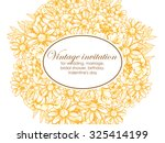 invitation with floral... | Shutterstock .eps vector #325414199