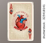 Vintage Playing Card Ace Of...