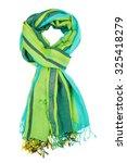 Silk Scarf. Green Silk Scarf...