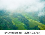 rice fields on terraced of mu... | Shutterstock . vector #325423784