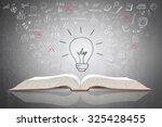 innovative light bulb on book...   Shutterstock . vector #325428455
