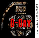 d day showing operation... | Shutterstock . vector #325433921