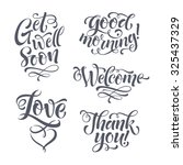 vector lettering set for... | Shutterstock .eps vector #325437329