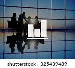business bar graph progress... | Shutterstock . vector #325439489