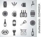 beer icons set illustration   Shutterstock .eps vector #325440314