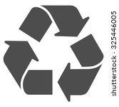 recycle vector icon. style is... | Shutterstock .eps vector #325446005