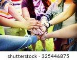 team teamwork relation together ... | Shutterstock . vector #325446875