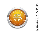 globe sign yellow vector icon... | Shutterstock .eps vector #325455545