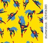super hero in different poses...   Shutterstock .eps vector #325456385