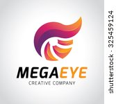 mega eye logo  vector logo... | Shutterstock .eps vector #325459124